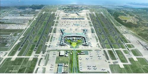 인천국제공항 4단계 건설사업 전체 조감도