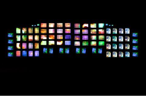백남준, M200/비디오 벽, 330×960×50cm, 1991