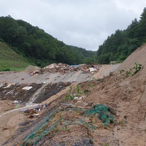 제천시 자원관리센터 수해로 쓰레기 처리량 평소 1/3수준 | 연합뉴스