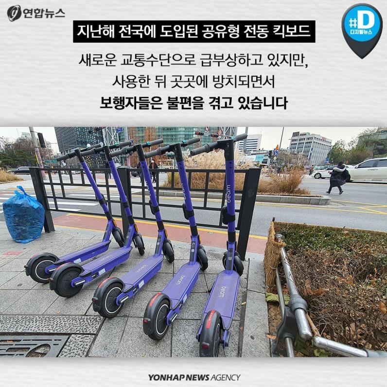 [카드뉴스] 전동 킥보드 이용 증가로 보행자 안전 문제없나? - 2