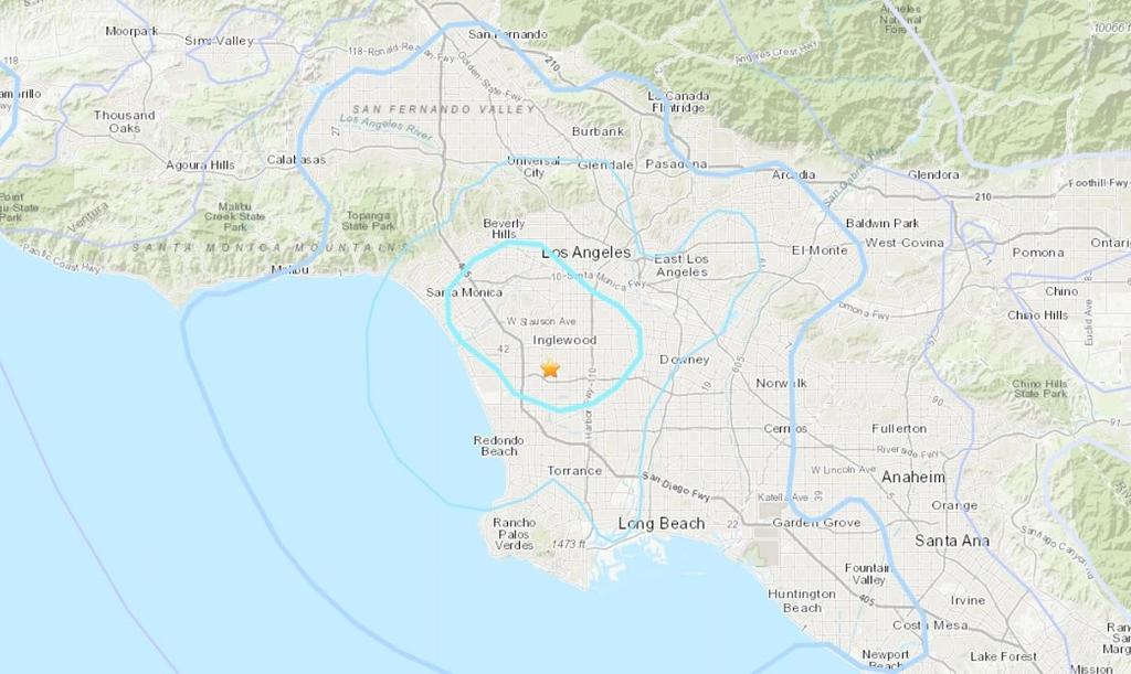 LA에서 규모 4.0 지진 발생