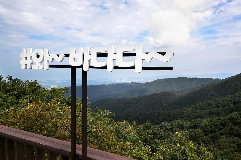 해발 1천140m에 있는 동해전망대에서는 강릉 시내와 동해를 한눈에 조망할 수 있다. [사진/전수영 기자]