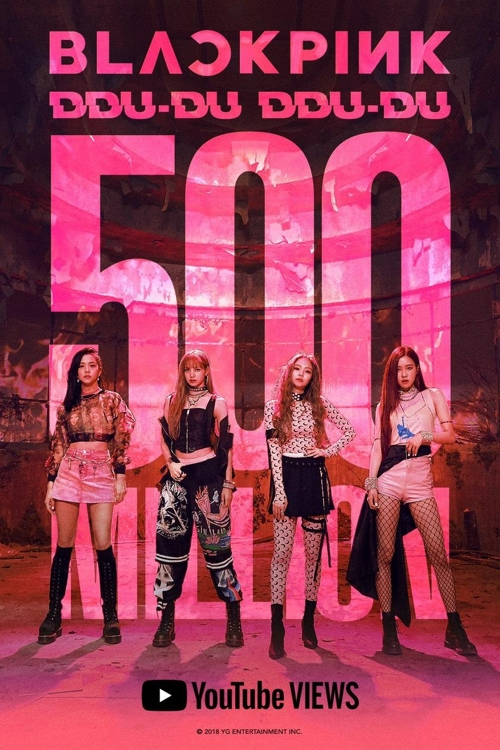 El vídeo musical 'Ddu-Du Ddu-Du' de BLACKPINK supera los 500 millones de visualizaciones en YouTube