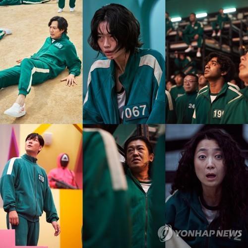 """Esta imagen, proporcionada por Netflix, muestra capturas de la serie surcoreana """"El juego del calamar"""". (Prohibida su reventa y archivo)"""