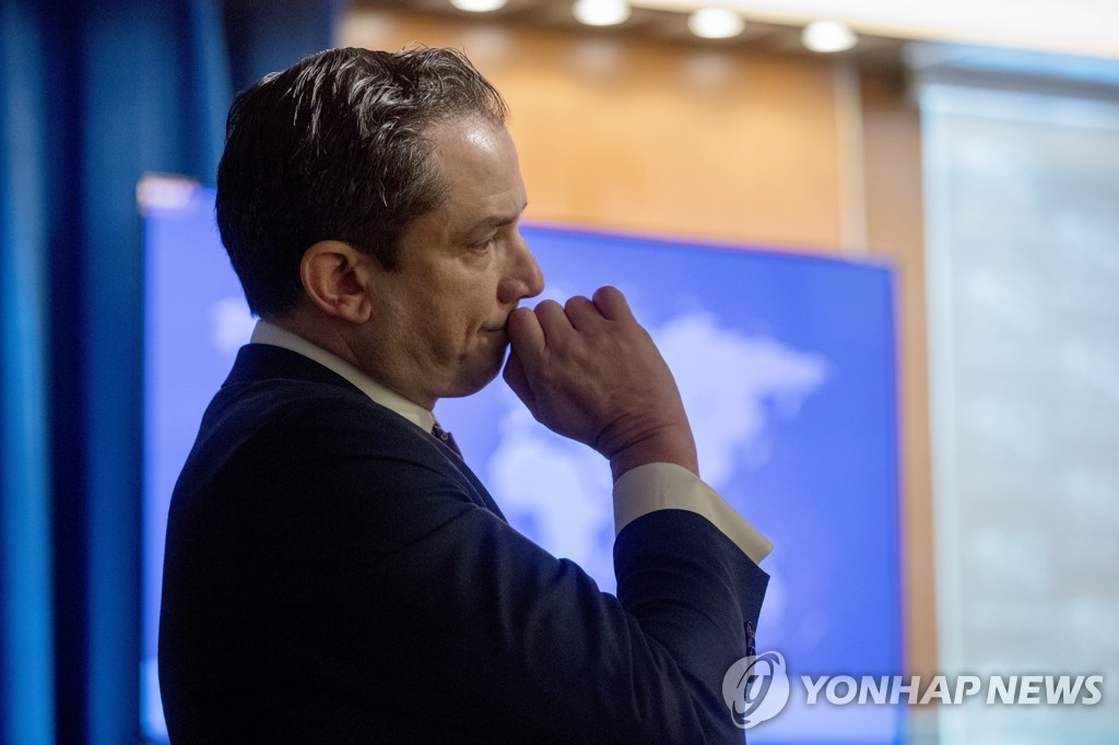 This AP file photo shows U.S. State Department deputy spokesperson Robert Palladino. (Yonhap)