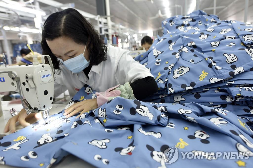 중국의 의류 제조 공장