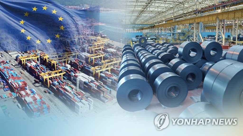 (LEAD) EU to impose 25-pct duty on quota-exceeding steel imports from Feb. - 1