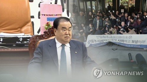 (3rd LD) Speaker Moon pushes for bill to resolve Japanese wartime forced labor issue