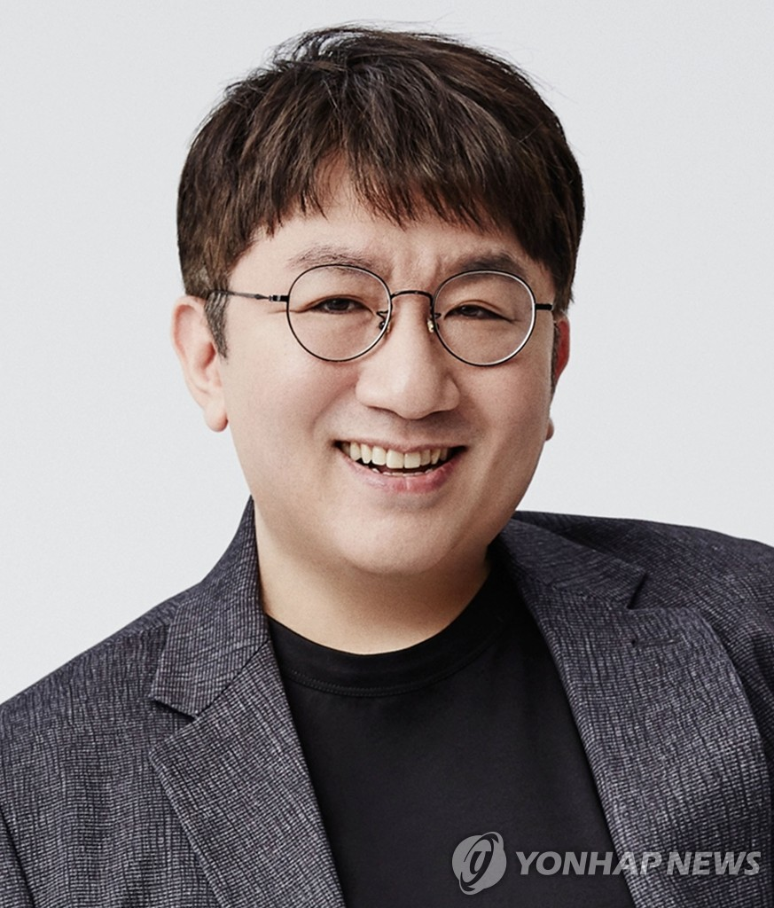 This photo, provided by Big Hit Entertainment, shows the company's chairman and CEO Bang Si-hyuk. (PHOTO NOT FOR SALE) (Yonhap)