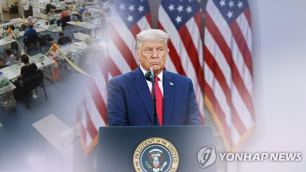 지난해 대선 부정 의혹을 주장한 트럼프 전 대통령 (CG)