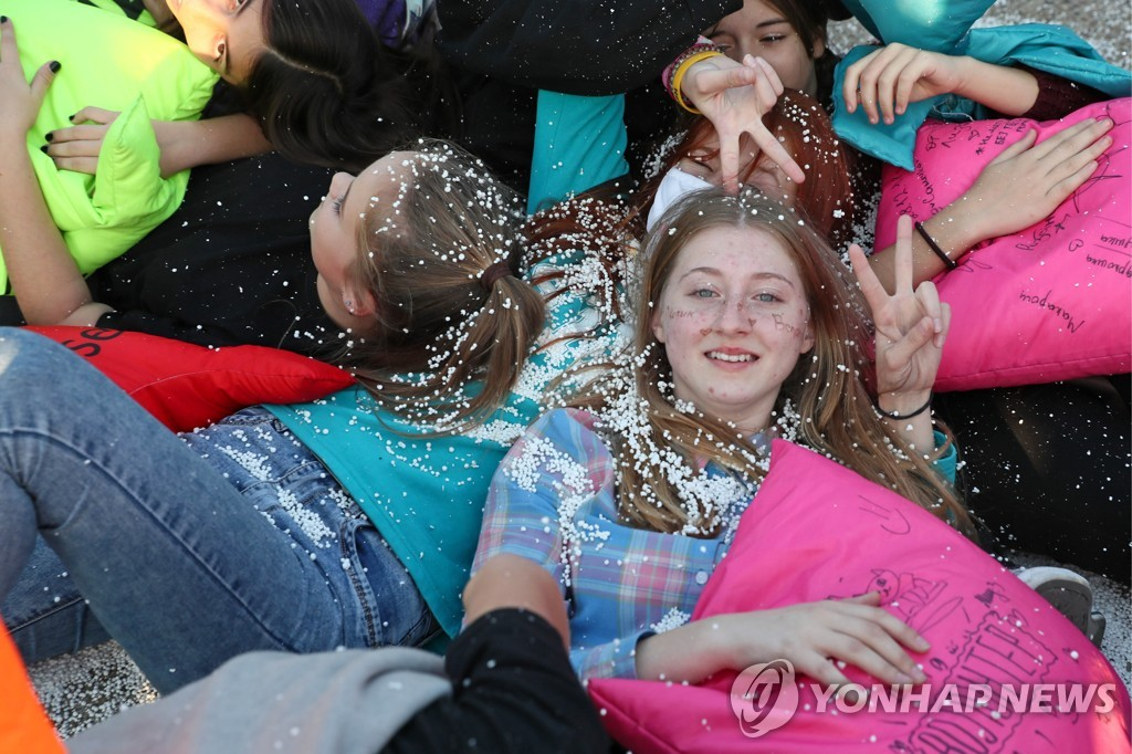 Antistress Fest mass pillow fight in Krasnodar Territory