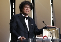 (LEAD) Bong Joon-ho's 'Parasite' wins Palme d'Or at Cannes