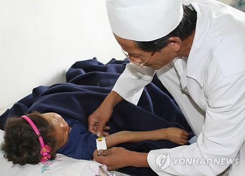 영양실조 걸린 북한 어린이