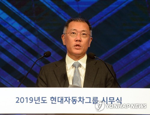 (LEAD) Hyundai Motor heir apparent assumes co-chairmanship of Hydrogen Council