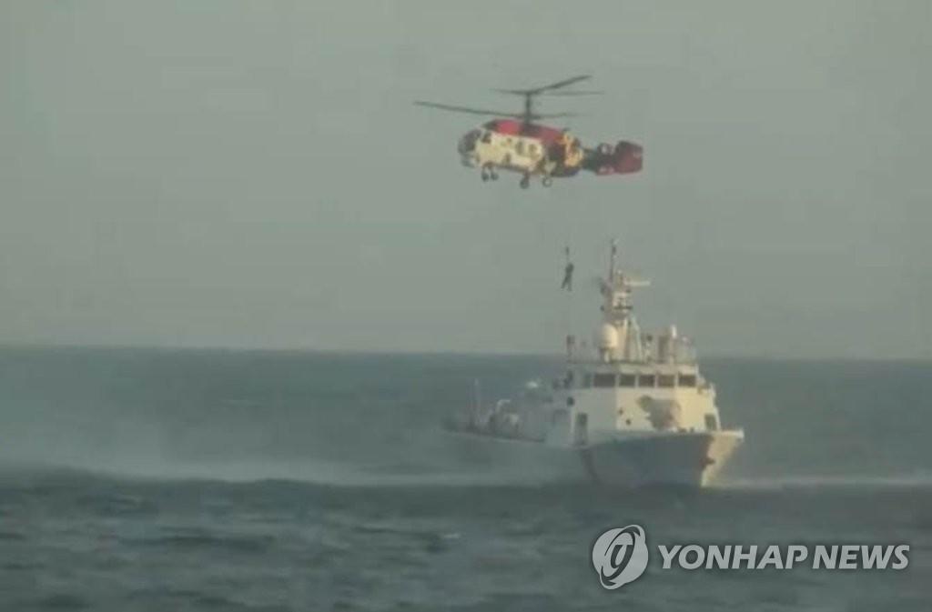 해경, 생존자 헬기로 이송