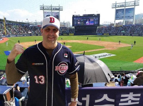 Ex-U.S. envoy visits Seoul to watch baseball game
