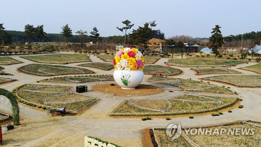 태안수선화축제에서 선보일 국내 최대 꽃병