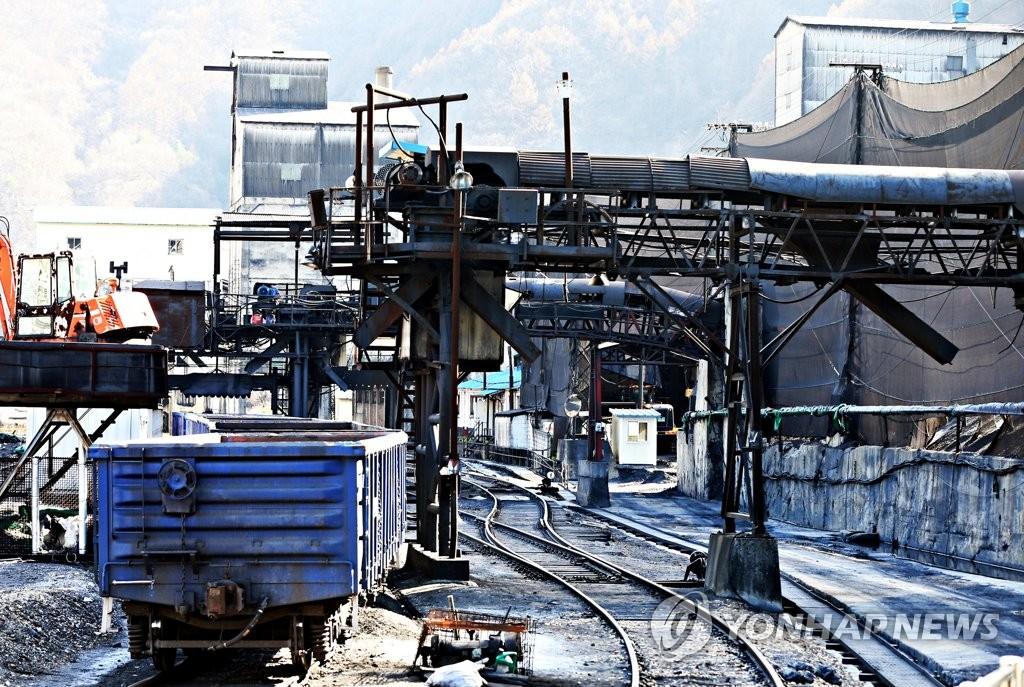 텅 빈 장성광업소 석탄 출하장
