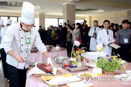 Cooking contest in N. Korea