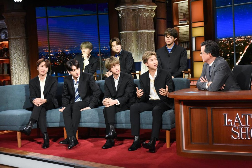 BTS en 'Late Show with Stephen Colbert'