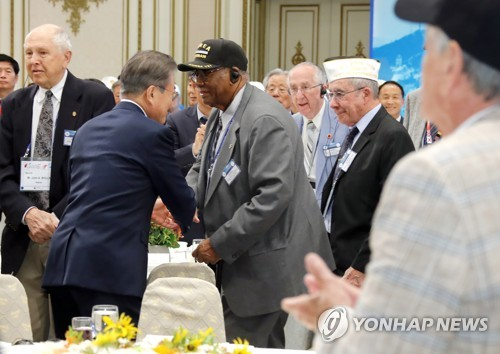 Moon meets Korean War veterans