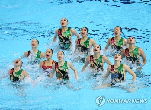 S. Korean swimmers compete in artistic swimming final