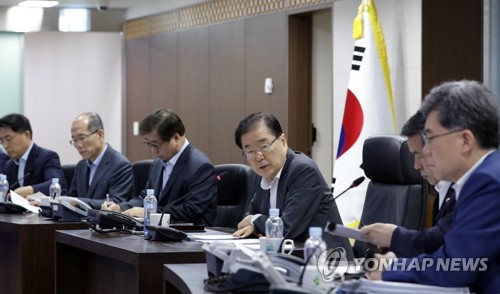 (LEAD) Cheong Wa Dae holds emergency NSC meeting on N. Korea's projectile launch