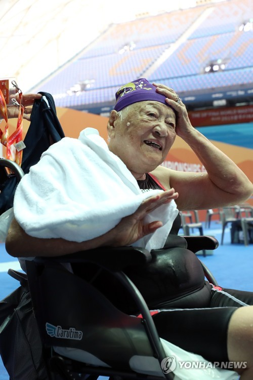 Oldest swimmer at FINA World Masters Championships