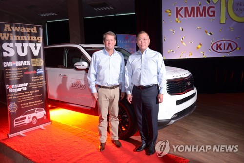 Kia produces over 3 million vehicles in U.S. plant