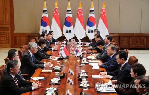 (2nd LD) S. Korea, Singapore agree to boost ties on smart cities, arms development