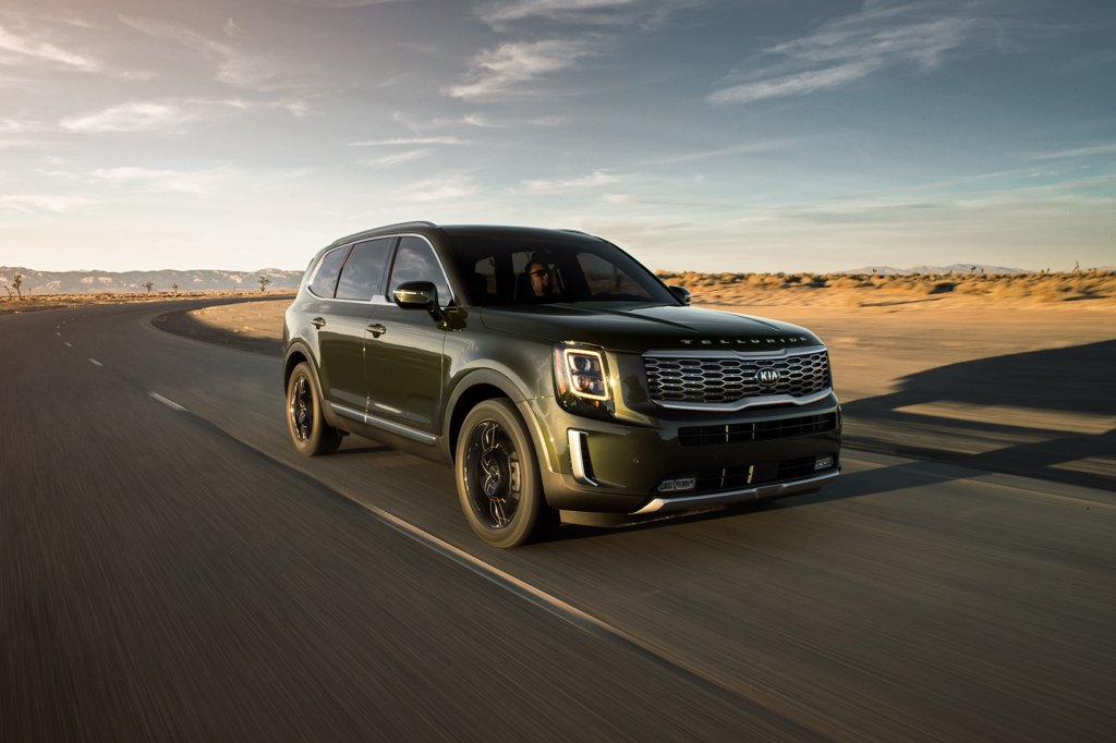 This photo provided by Kia Motors shows the company's Telluride SUV. (PHOTO NOT FOR SALE) (Yonhap)