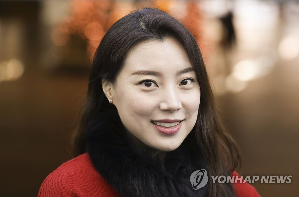 Soprano Hwang Sumi poses for an interview with Yonhap News Agency in Seoul on Dec. 3, 2019. (Yonhap)