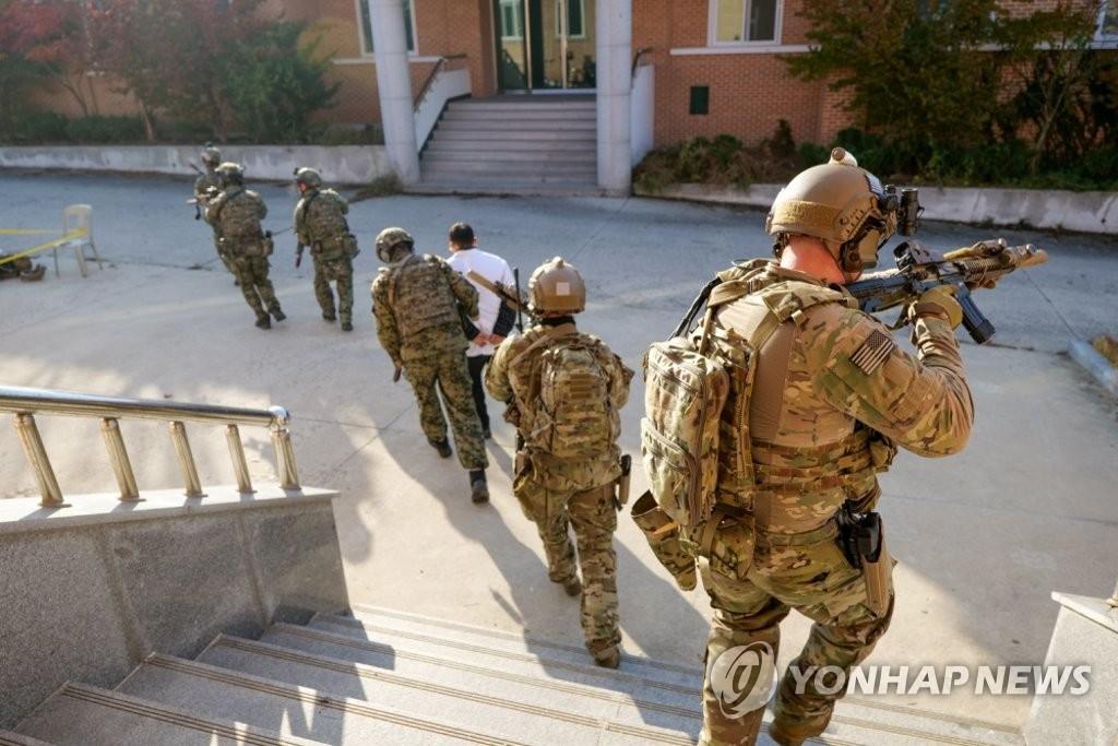 米国防総省がHPに公開した訓練の様子(同省HPより)=(聯合ニュース)≪転載・転用禁止≫