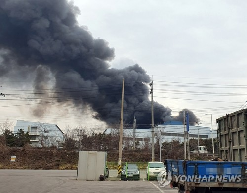 (2nd LD) Fire at steel plant contained, no casualties reported