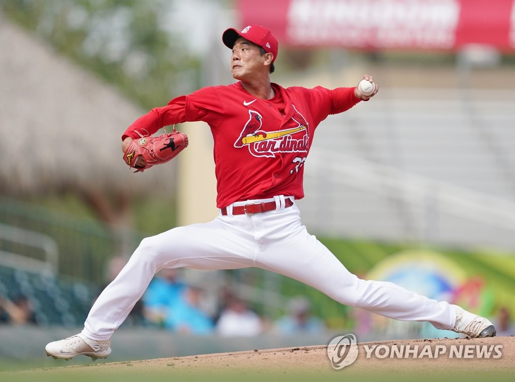 Cardinals' Kim Kwang-hyun recovers from sore groin, set to start training