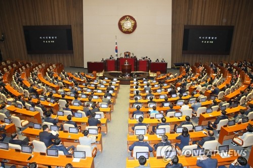 (LEAD) New parliament opens 1st session, but opposition boycotts voting