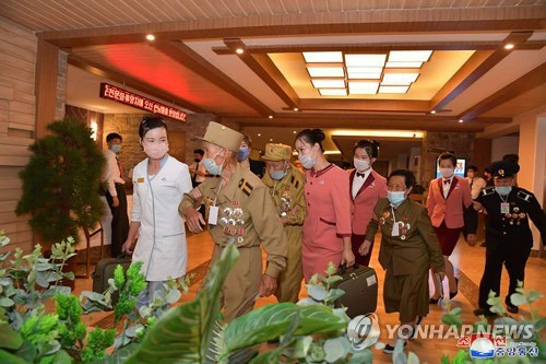 N. Korea's war veterans at spa resort