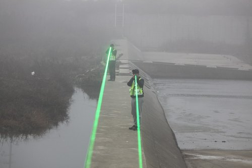 Scaring away migrant birds with laser beam