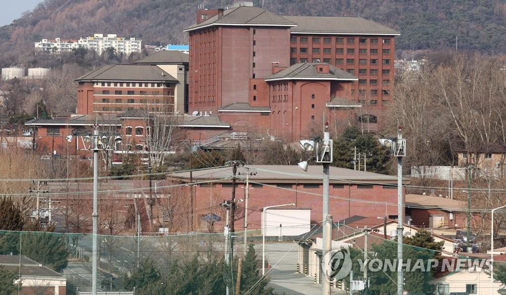 2021년 1월 17일 오후 촬영한 서울 용산 미군기지. [연합뉴스 자료사진]
