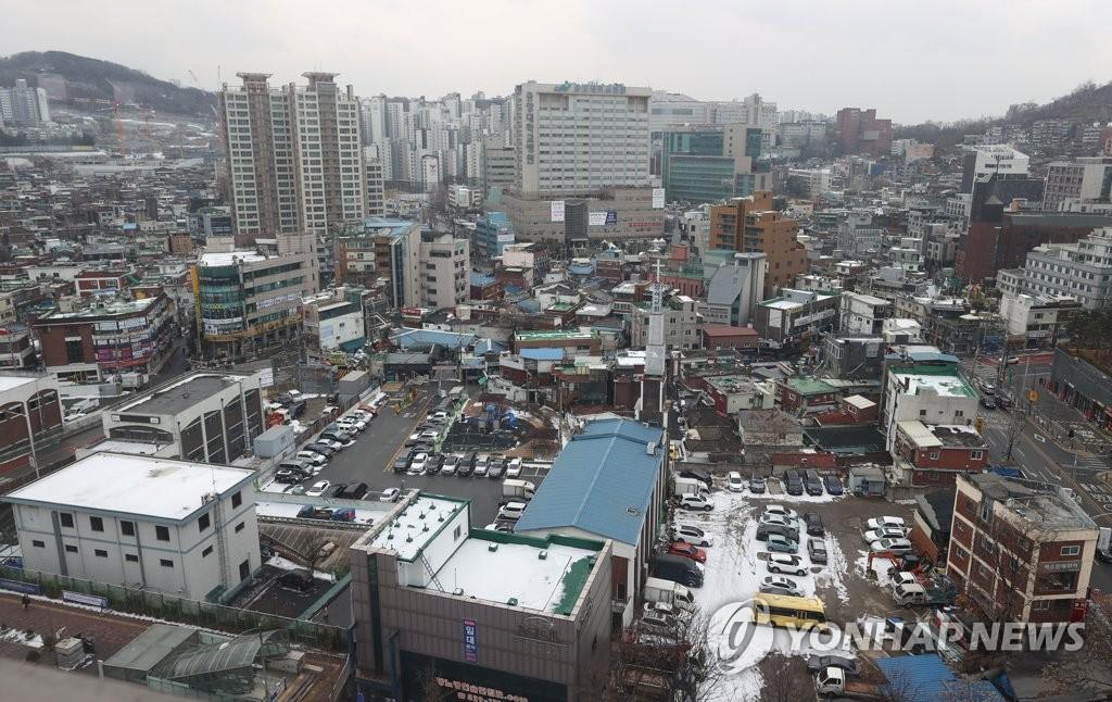 공공재개발 추진 중인 서울 흑석2구역 모습
