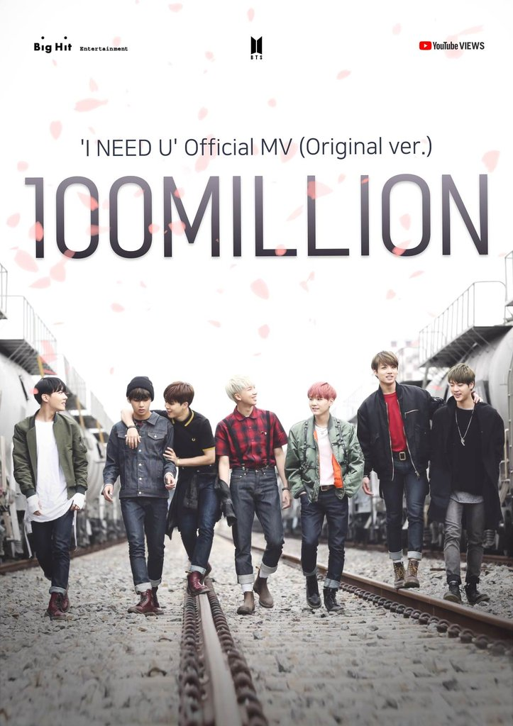 BTS' 'I Need U' MV tops 100 mln YouTube views