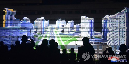 Lighting fest in N. Korea
