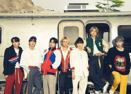 This photo, provided by Big Hit Music on July 14, 2021, shows K-pop superstar BTS. (PHOTO NOT FOR SALE) (Yonhap)